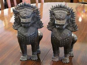 LOVELY VINTAGE THAI BRONZE FOO DOGS AT CHARMAINE'S ...