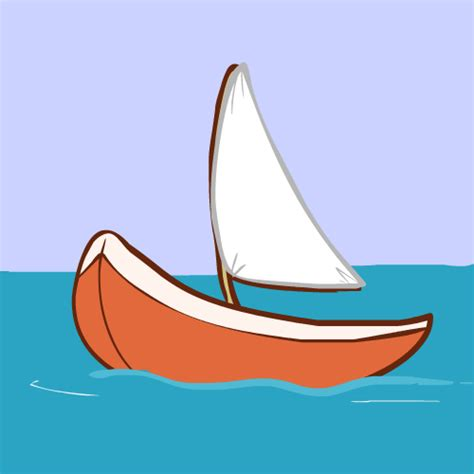 Sailboat Animation by Drawn Sailing Boat Animated Pencil And In Color Drawn