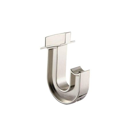 shop allen roth satin nickel closet rod hooks at lowes