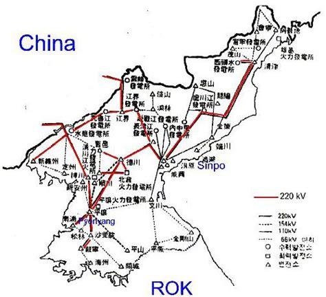 Map of North Korea Electricity Grid - North Korea ...