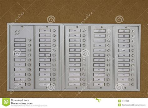 Electronic Bid Door Bell Buttons Royalty Free Stock Image Image 31577026