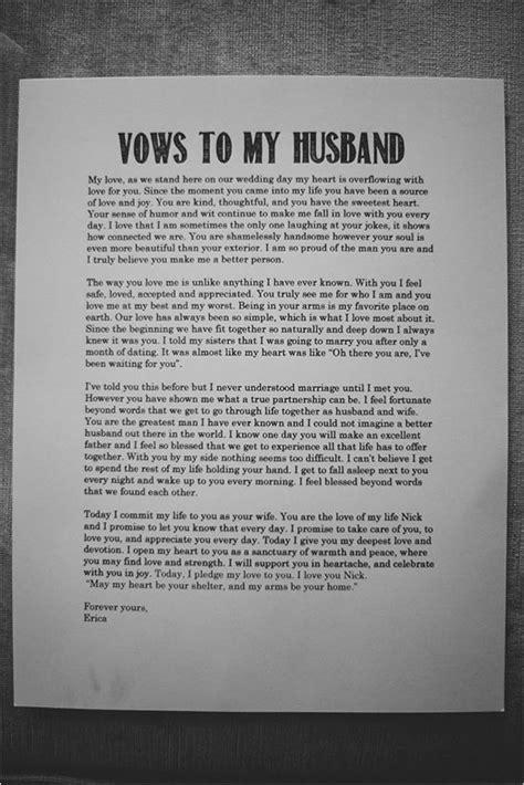 romantic wedding idea vows   husband inspirational