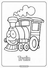 Train Coloring Pages Cute sketch template