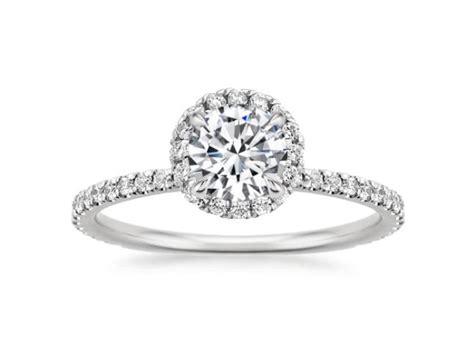 sparkling pav 233 engagement rings brilliant earth