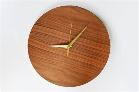 modern wooden clocks diy modern wood wall clock