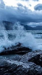Wallpaper, Sea, 5k, 4k, Wallpaper, Ocean, Rocks, Wave