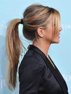 Coiffure Queue De Cheval : cheveux jennifer aniston diaporama de ses coupes et ~ Melissatoandfro.com Idées de Décoration