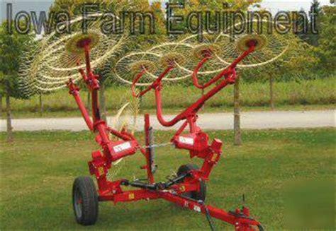 enorossi  wheel hay rake  center kicker wheel