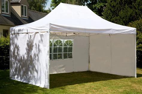batterie de cuisine en tente pliante 3x4 5 m tonnelle blanc en polyester 260g m armature acier destockoutils