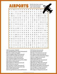 Halloween Themed Brain Teasers by Airport Word Search