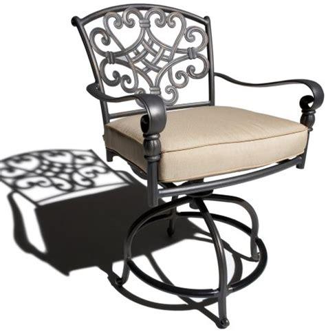 strathwood sanibel cast aluminum balcony chair with