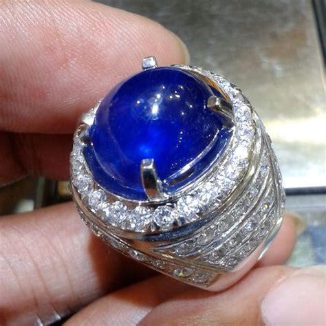 jual cincin pria blue safir afrika pilihan 0121 cincin dan batu batu permata baru batu permata