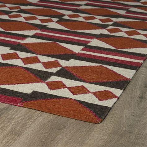 kaleen nomad tangerine geometric area rug reviews