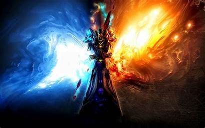 Fantasy Wallpapers Desktop Background Ice Fire Cool