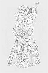Mechanika Colouring sketch template