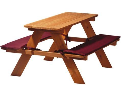 kinder gartenmöbel holz kinder picknicktisch holz 89x79x50 cm braun bei hornbach