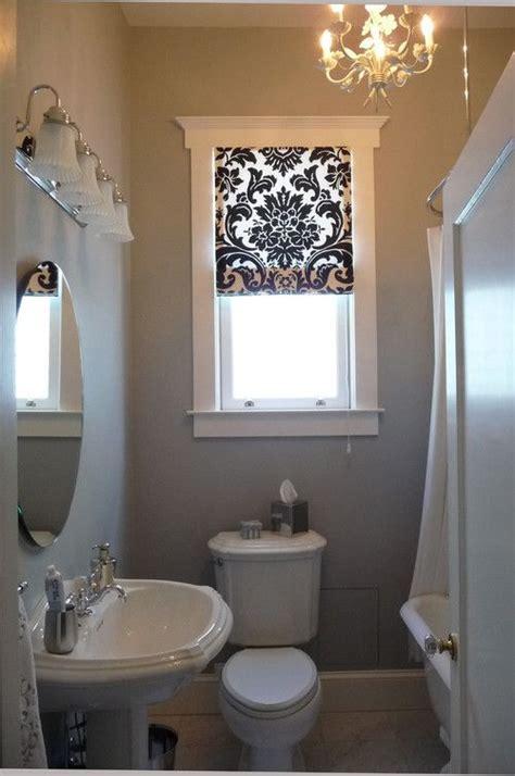 bathroom curtains  small windows http
