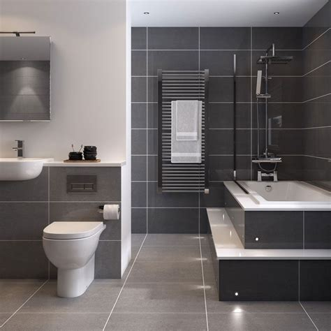 Floor And Wall Bathroom Tiles by Bathroom Tile Idea Use Large Tiles On The Floor And