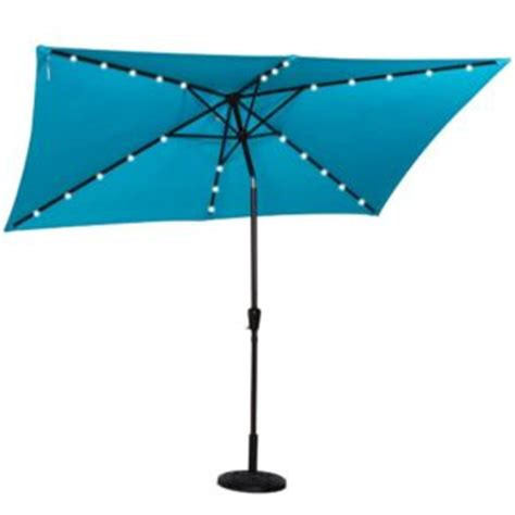 Square Solar Lighted Patio Umbrella by Best Rectangular Patio Umbrella With Solar Lights