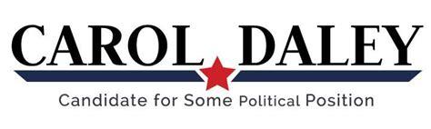 political logo template blue angled stripe  red star