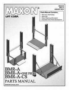 Maxon Bmra-cs Series Liftgate By The Liftgate Parts Co