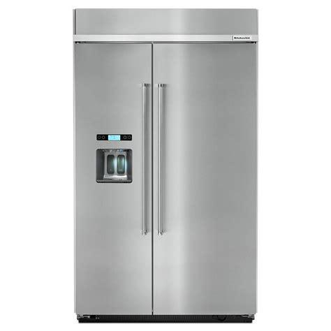 Kitchenaid Refrigerator Built In by Kitchenaid 29 5 Cu Ft Built In Side By Side Refrigerator