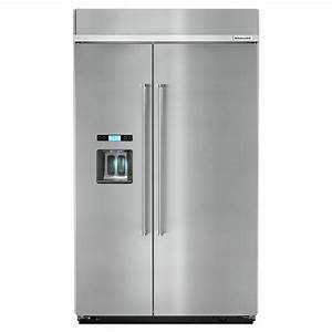 Shop kitchenaid 295 cu ft built in side by side for Kitchenaid side by side refrigerator reviews