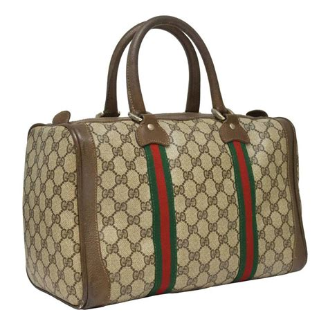 gucci monogram boston bag  stdibs