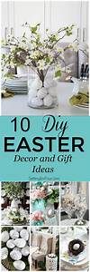 10 DIY Easter Decor and Gift Ideas - Setting for Four