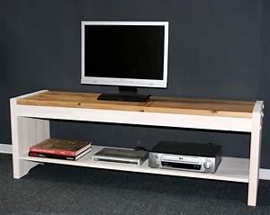 Tv Bank Weiß Holz : tv bank board lowboard fernseh kommode m bel wei antik kiefer massiv holz ebay ~ Whattoseeinmadrid.com Haus und Dekorationen