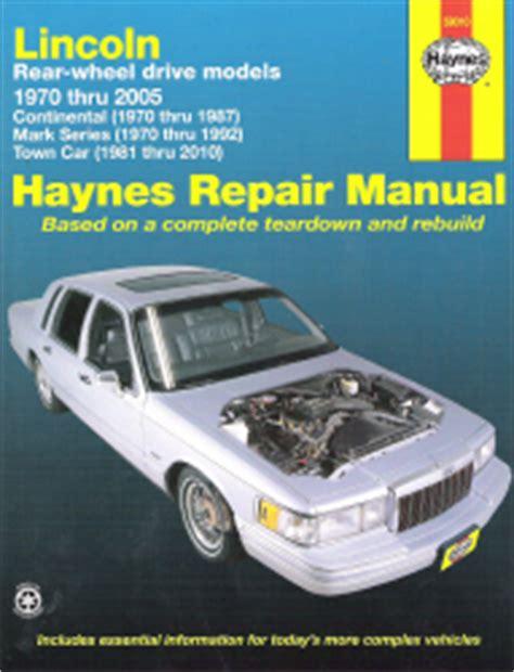 small engine maintenance and repair 2008 lincoln mark lt navigation system 1970 2010 lincoln rwd continental mark series town car haynes manual