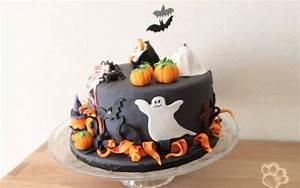 Gateau D Halloween : g teau d 39 halloween avec d cors en p te sucre la p te d 39 amanda ~ Melissatoandfro.com Idées de Décoration