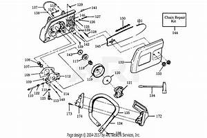 Poulan 2700 Gas Saw Parts Diagram For Power Unit