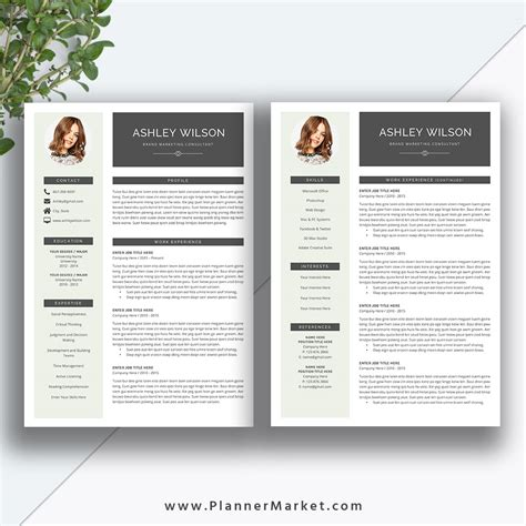 2 Page Resume Template by This Beautiful And Modern Ms Office Word Resume Template