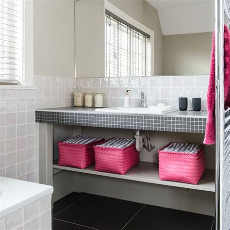black and pink bathroom ideas white bathroom with pink and black accents decorating