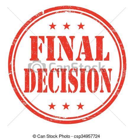 Final Decision Stamp Final Decision Grunge Rubber Stamp