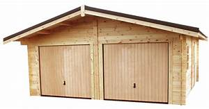 Garage Pour Voiture : garage double en bois garage abri voiture garage ~ Voncanada.com Idées de Décoration