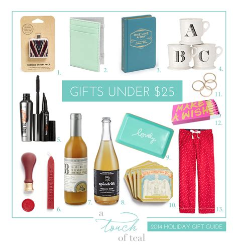 2014 gift guide gifts under 25 a touch of teal