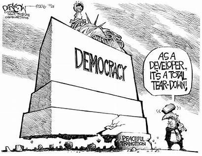 Cartoons Trump Donald Democracy Cagle Political Democratic