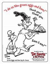 Coloring Ham Eggs Dr Seuss Pages Popular sketch template