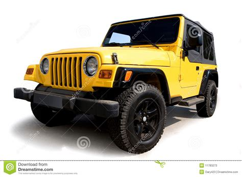 yellow jeep clipart yellow jeep stock photos image 11783273