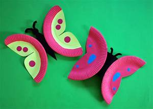 Bastelideen Sommer Kindergarten : schmetterlinge aus papptellern basteln kinderspiele ~ Frokenaadalensverden.com Haus und Dekorationen