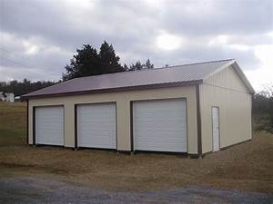 pin by pioneer pole buildings inc on three car garages With 3 car pole barn