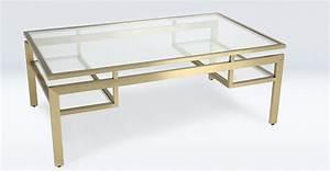 Verre Pour Table Basse : table basse en verre et m tal de couleur laiton ~ Teatrodelosmanantiales.com Idées de Décoration
