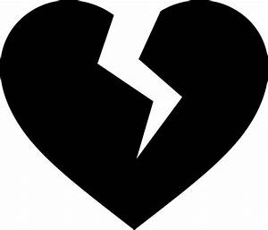 Heart black and white broken heart clipart black and white ...