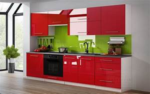Küche 260 Cm : kaufexpert k chenzeile linda rot hochglanz 260 cm k che k chenblock mdf arbeitsplatte ~ Orissabook.com Haus und Dekorationen