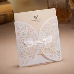 carte d invitation mariage 50 pcs carte d invitation de mariage en papier nacré ciselé de fleur noeud à deux boucles très
