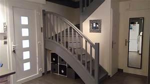 escalier peint en gris photo 20171007073359 tiawukcom With peindre un escalier en bois 16 les 25 meilleures idees concernant salle de bain marron