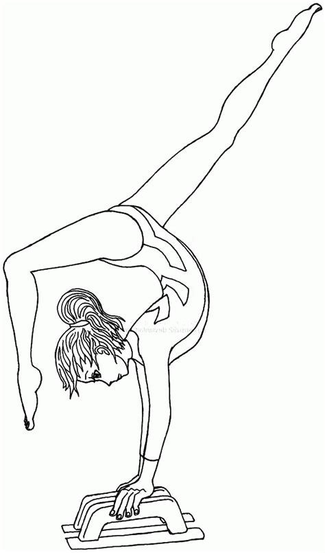 kids coloring pages gymnastics coloring home