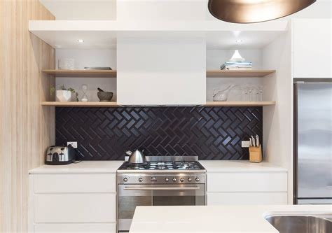 backsplash for black and white kitchen the sophisticated new tile trend we can t get enough of 9066